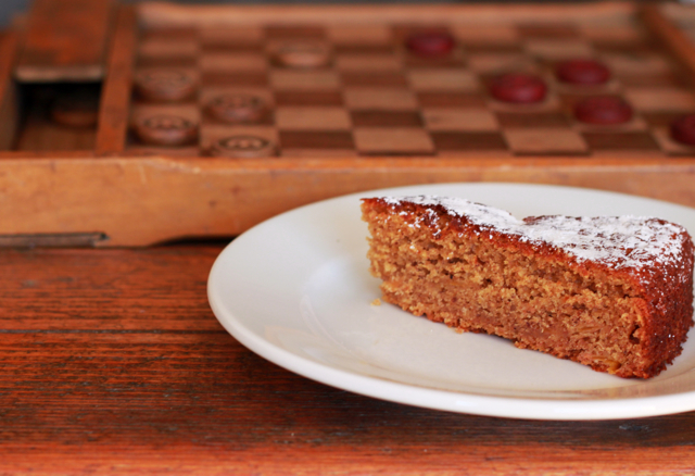 Persimmon Cake With Lemon Sauce