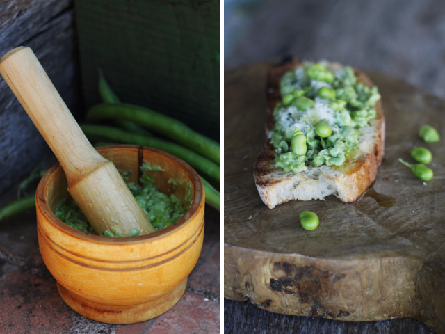 and fava bean crostini recipes dishmaps springtime morel and fava bean ...