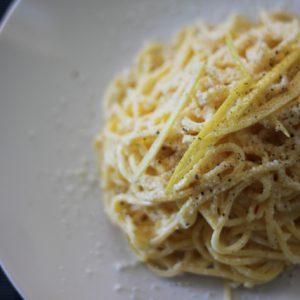 Unwinding with Tagliolini al Limone