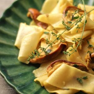 Late summer mushroom pappardelle