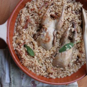 Artusi's August: Pan roasted quail risotto