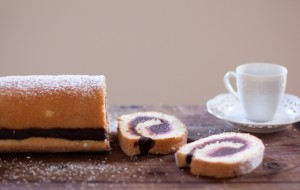 nutella sponge roll