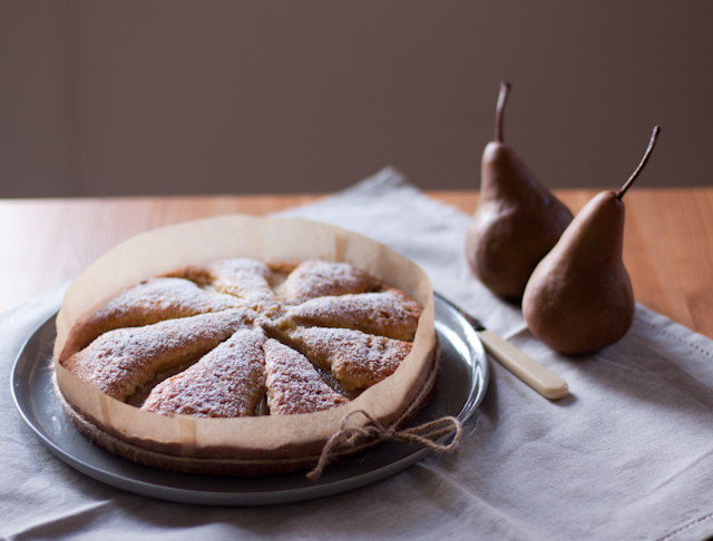 polenta and pear cake