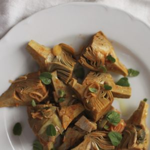 Italian Table Talk: Braised artichokes with calamint