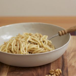 Spiced walnut linguine, a recipe that tastes of history