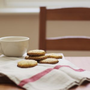 Polenta and Elderflower Cookies
