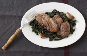 scamerita - pork neck with cavolo nero feature