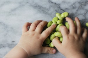 broad beans and little hands