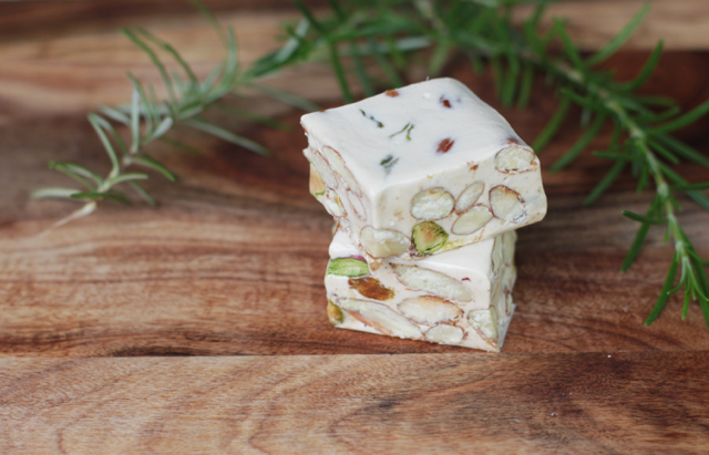 torrone sardo with almonds and pistachio
