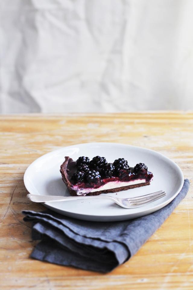 Mascarpone and blackberry chocolate tart | Emiko Davies