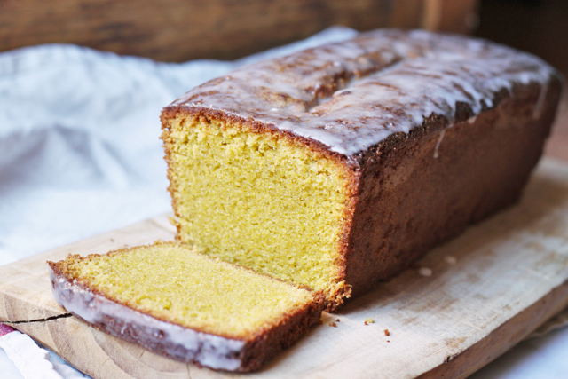 pistachio, polenta and olive oil pound cake