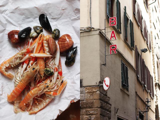 Florence and seafood