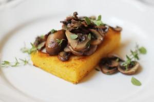 polenta and mushroom crostini