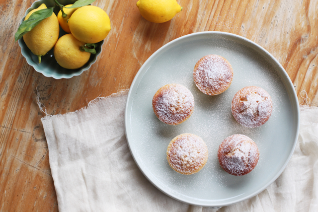 lemon polenta cakes