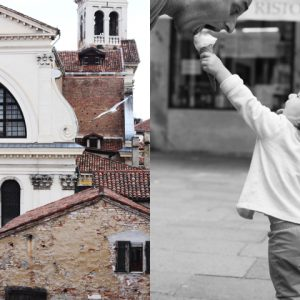 Eating & playing in Venice with a little one