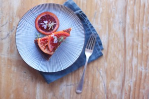 blood orange cake with rosemary