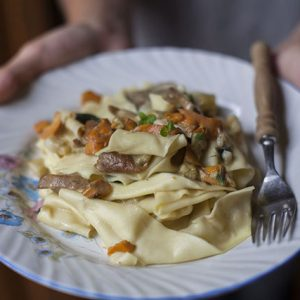 A book deal & pappardelle with fresh porcini