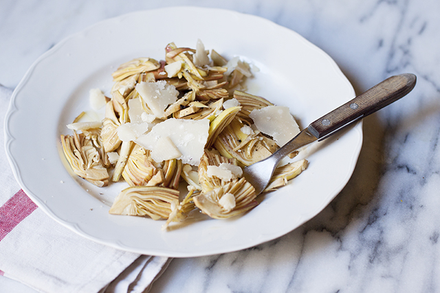 artichoke salad - insalata di carciofi