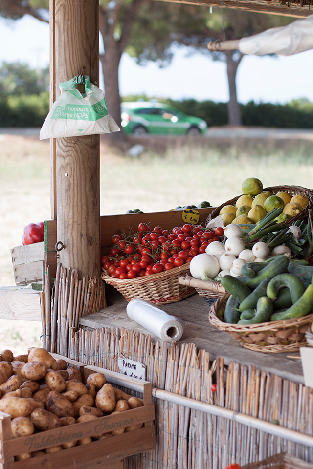 Capalbio roadside produce stall