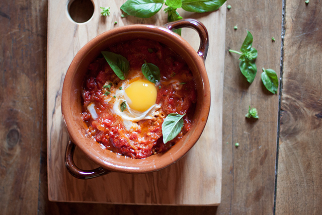 Sarah's eggs in tomato sauce