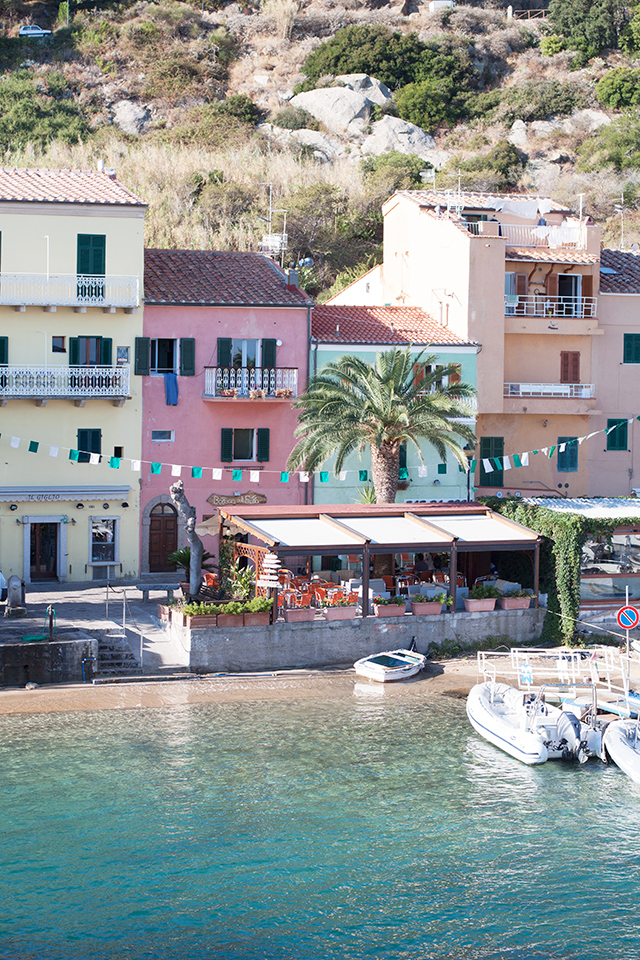 The colourful port of Giglio