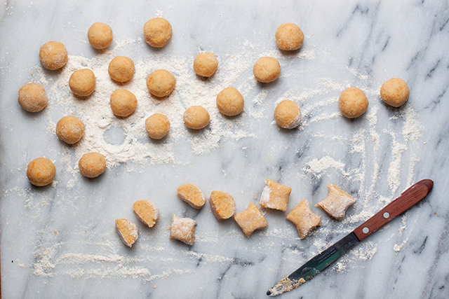 pumpkin and chestnut gnocchi