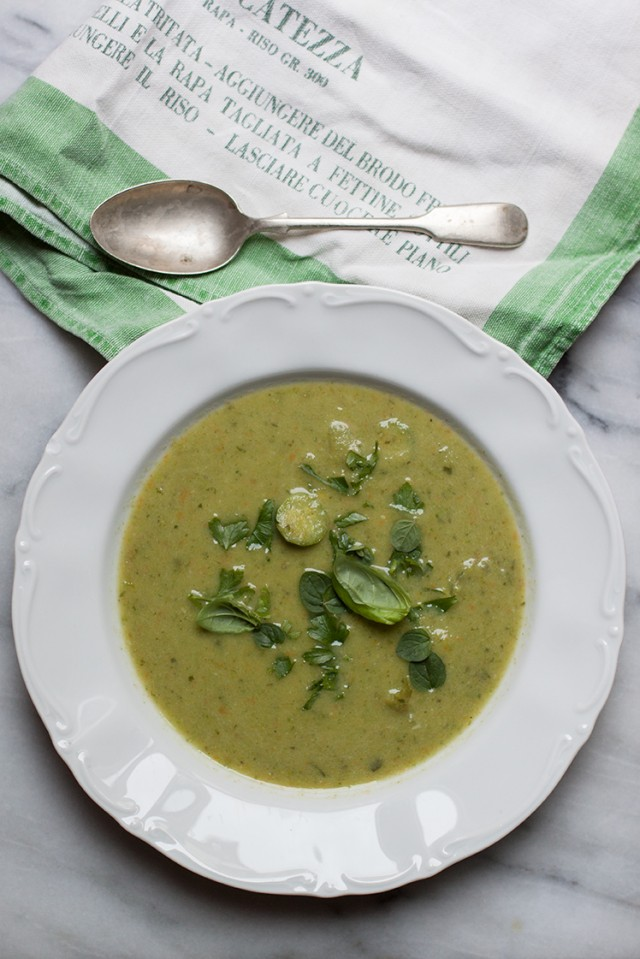 zucchini passata or soup