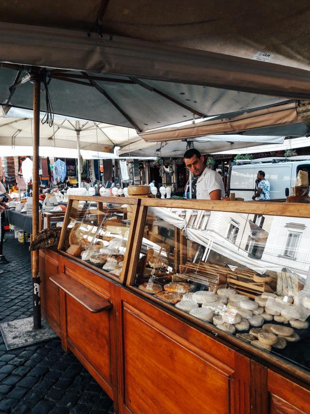 Cheese at Campo dei Fiori