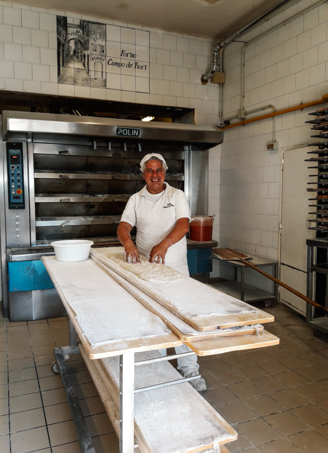Baker at Forno Campo dei Fiori