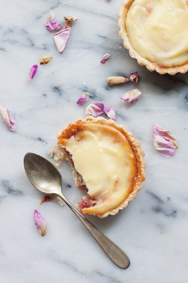 rose petal and ricotta tarts