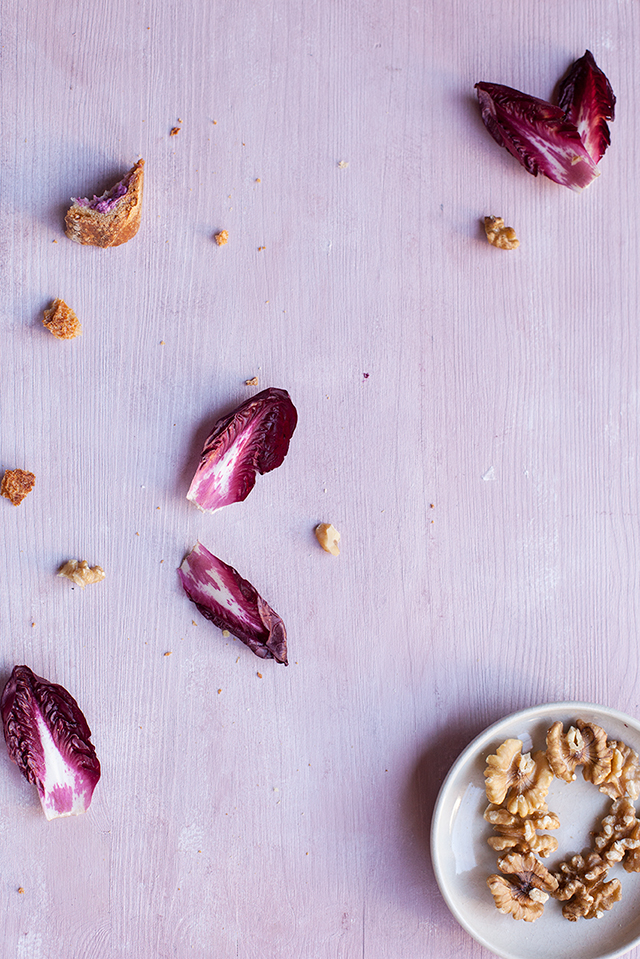 radicchio spread with walnuts