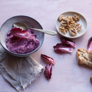 Radicchio, mascarpone and walnut cream