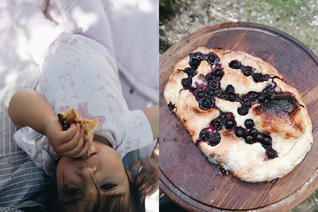 pizza with blueberries