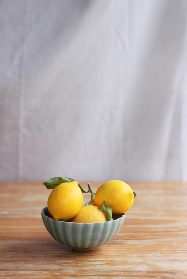 garden lemons for polenta cakes