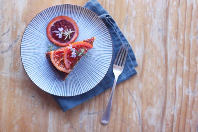 blood orange cake with rosemary