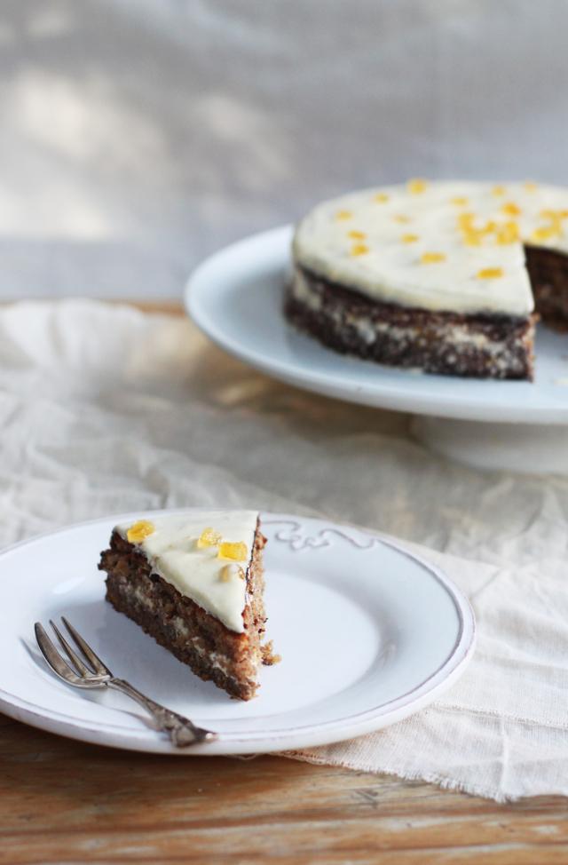 torta di noci - walnut cake with buttercream
