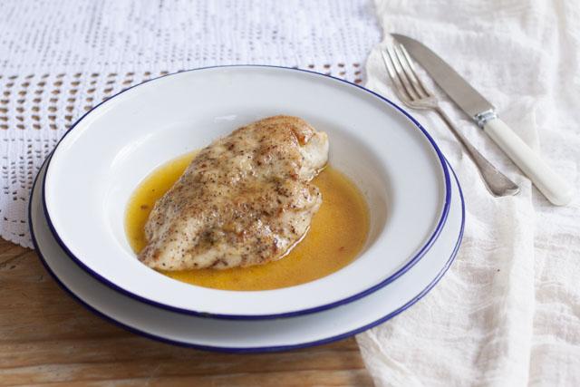 chicken in butter - pollo al burro