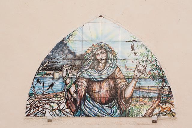 Orbetello painted tiles