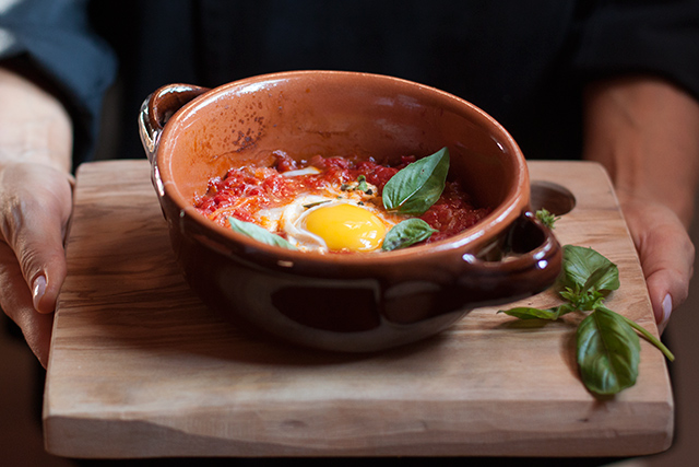 Sarahs eggs poached in tomato sauce feature