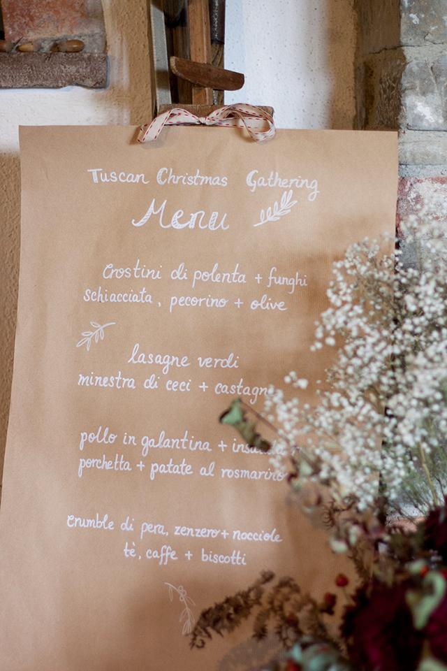 Tuscan Gathering menu