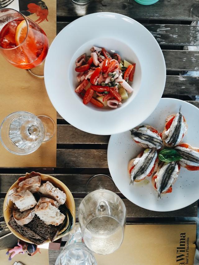 A meal at Dalla Wilma