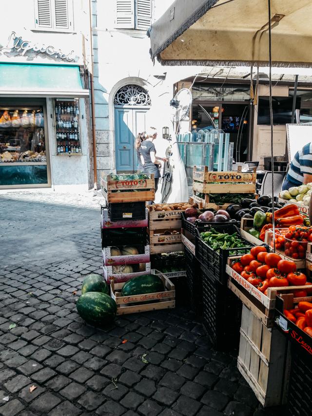 Vegetable stand at Campo dei Fiori