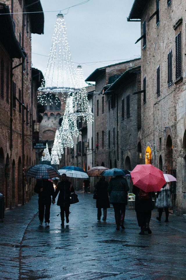 San Gimignano on a winter's evening