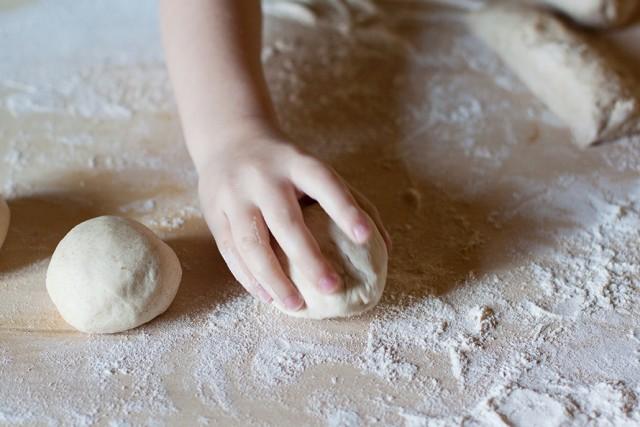 making bread rolls