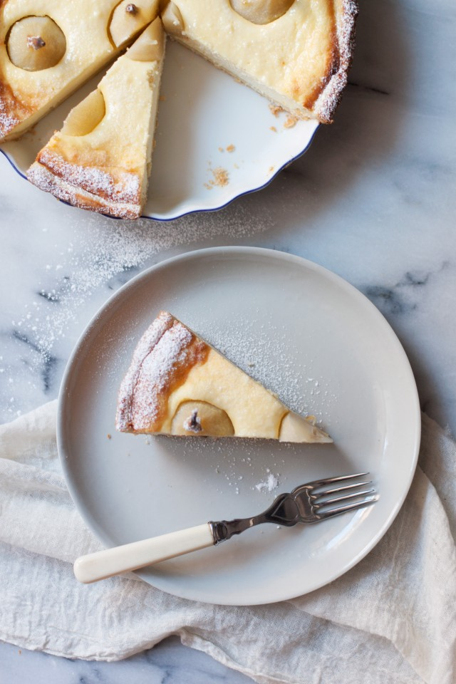 ricotta-and-baby-pear-tart