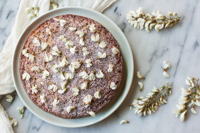 Mimi Thorisson's black locust or robinia cake