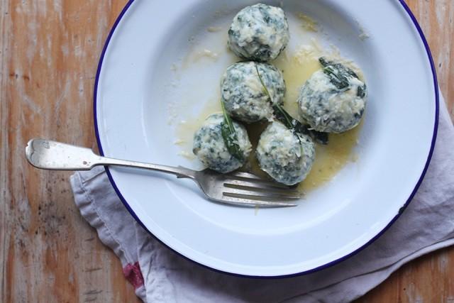 gnudi - Tuscan ricotta and spinach balls