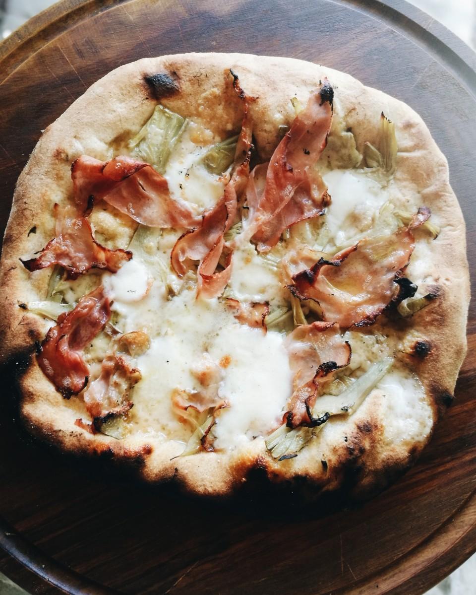 artichoke and ham pizza